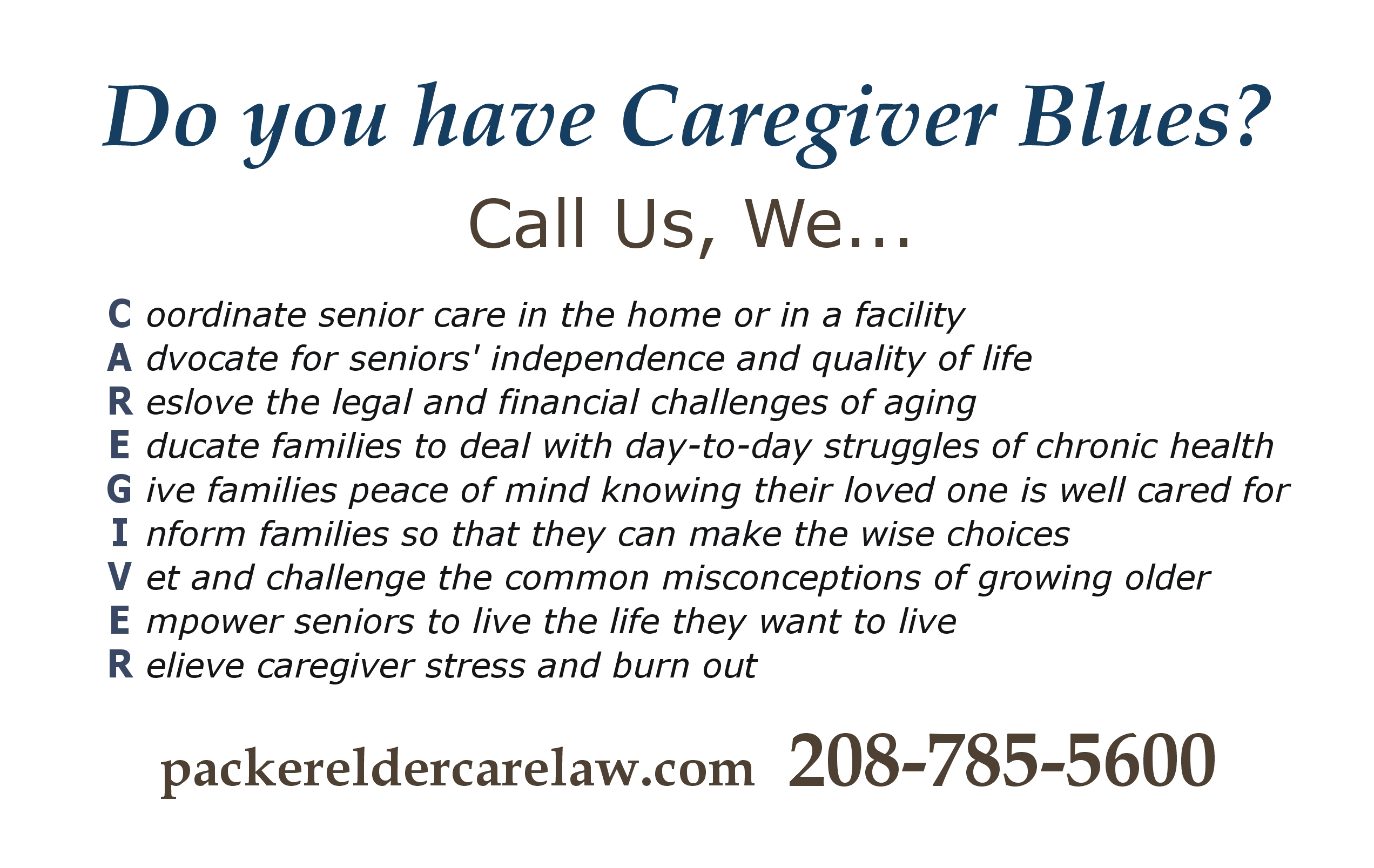 Care Giver Blues